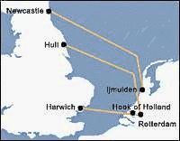 Netherlands uk ferries map